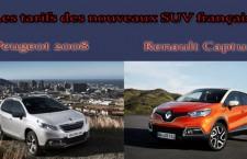 Les Tarifs des nouveaux SUV français : Peugeot 2008 et Renault Captur