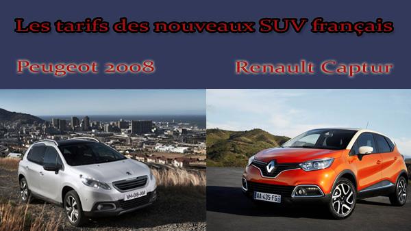 Lire l'article «Les Tarifs des nouveaux SUV français : Peugeot 2008 et Renault Captur»