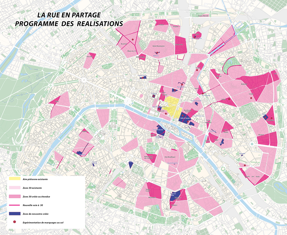 Lire l'article « Paris : 37% des voies de circulation passent en zone 30 km/h »