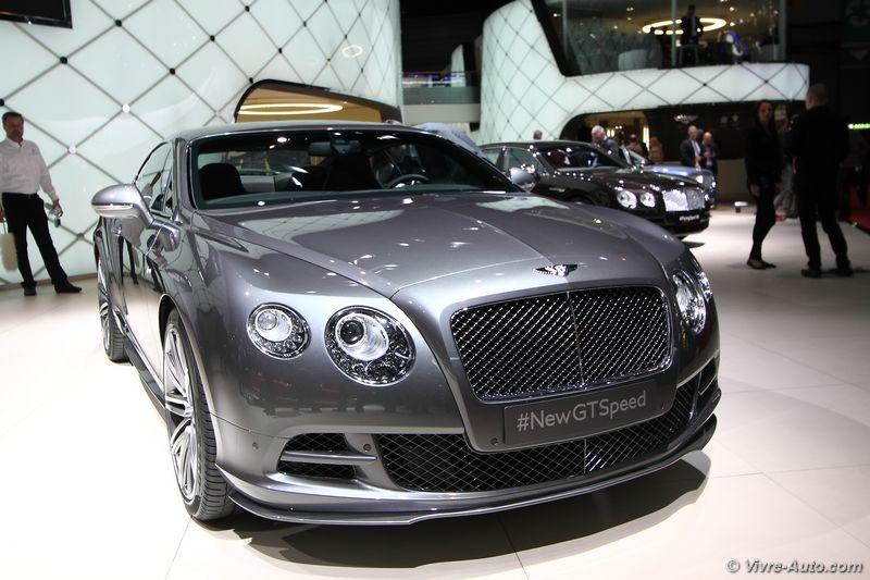 Lire l'article «Bentley Continental GT Speed, des chevaux en plus pour Genève»