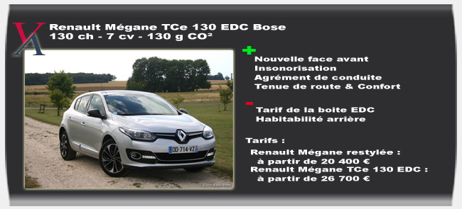 essai renault megane restyl e tce 130 edc bose. Black Bedroom Furniture Sets. Home Design Ideas