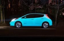 La Nissan Leaf brille la nuit !