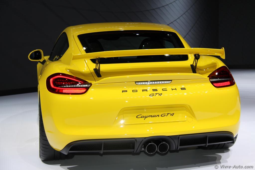 Lire l'article «Genève 2015 : les photos de la Porsche Cayman GT4»