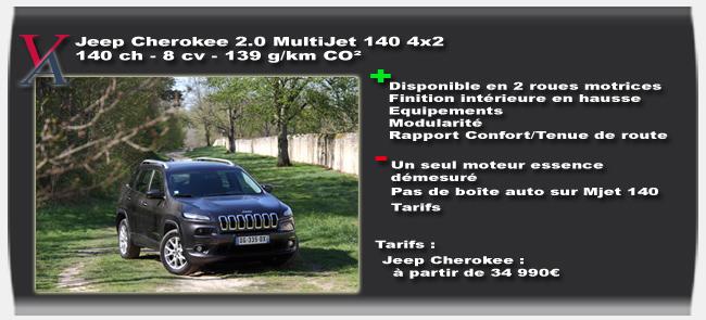 Essai Jeep Cherokee - Vivre Auto
