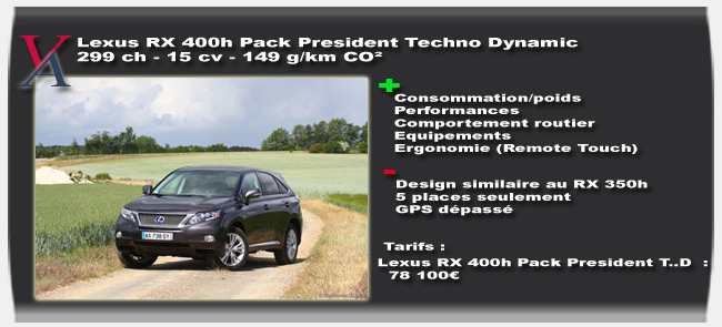 Essai Lexus 450h - Vivre Auto