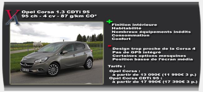 Essai Opel Corsa CDTi 95 - Vivre Auto