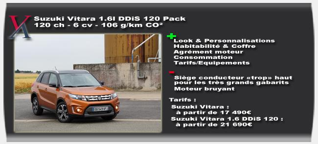 Essai Suzuki Vitara - Vivre Auto