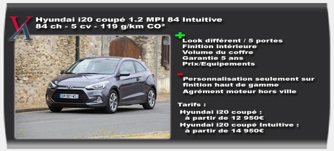 Essai Hyundai i20 coupé - Vivre-Auto