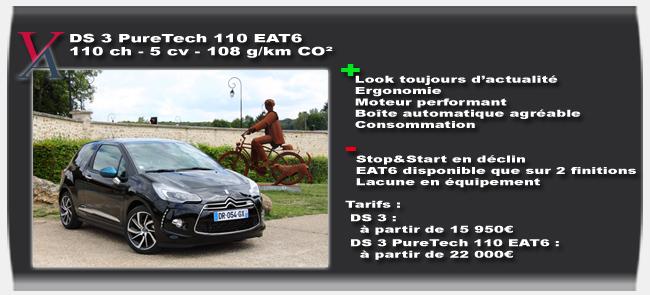 Essai DS 3 Puretech 110 EAT6 - Vivre Auto