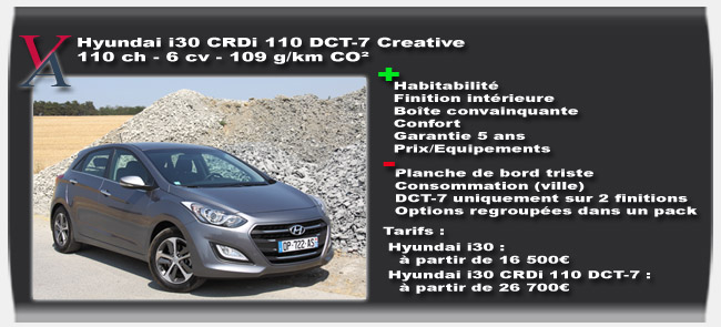 Essai Hyundai i30 CRDi DCT-7 - Vivre-Auto