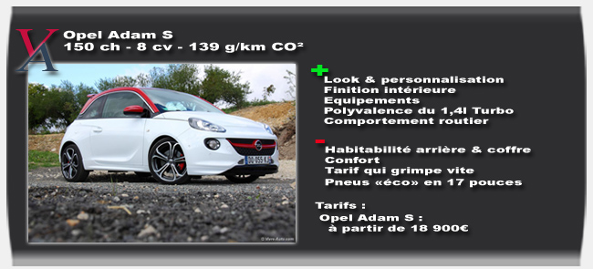Essai Opel Adam S - Vivre-Auto