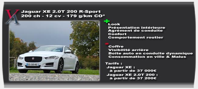 Essai Jaguar XE - Vivre-Auto