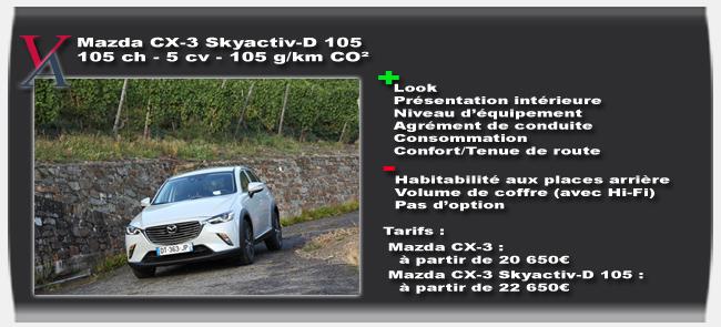 Essai Mazda CX-3 - Vivre-Auto