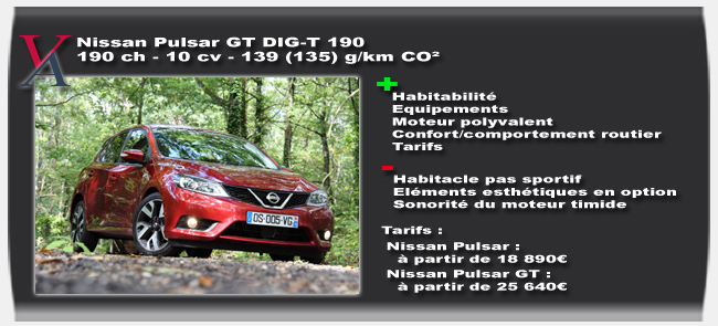 Essai Nissan Pulsar GT - Vivre-Auto