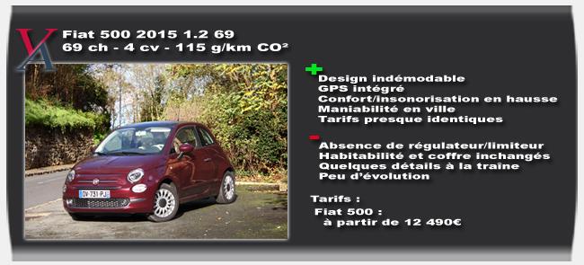 Essai Fiat 500 2015 - Vivre-Auto