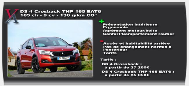 Essai DS 4 Crossback THP 165 - Vivre-Auto