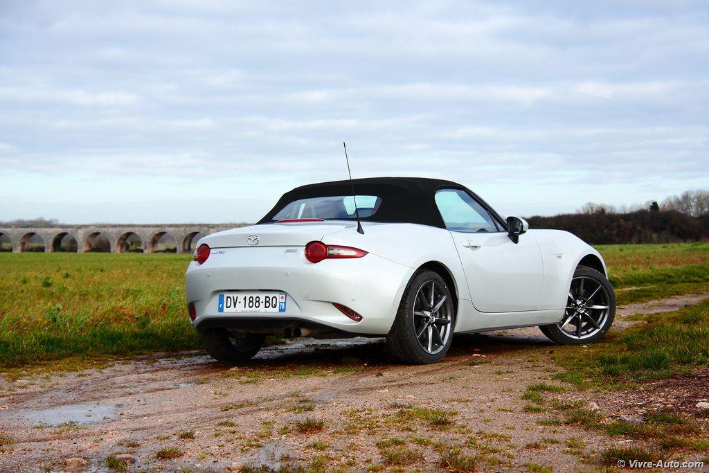 Lire l'article «Essai Mazda MX-5 ND 2.0 160 ch, fidèle à ses origines !»