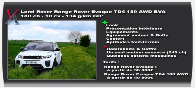 Essai Range Rover Evoque 2016
