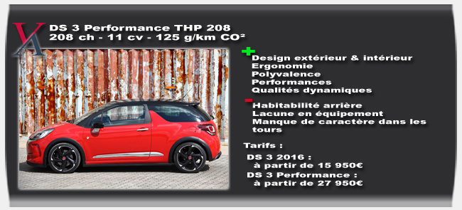 Essai DS 3 Performance
