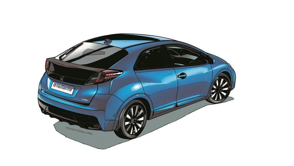 Lire l'article «Série spéciale Honda Civic Vaillante, dans l'univers de la BD»