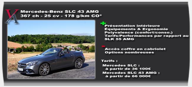 essai Mercedes SLC 43 AMG