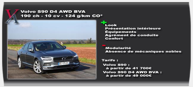 Essai Volvo S90 D4
