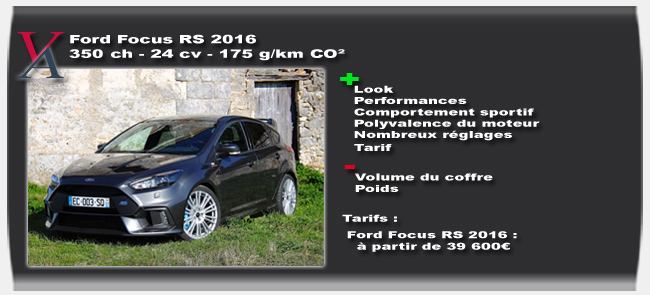 essai Ford Focus RS 2016