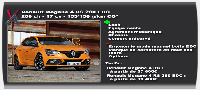 essai Renault Megane 4 RS 280 EDC
