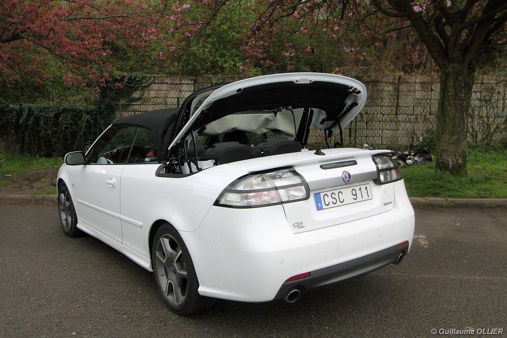 essai saab 9-3 cabriolet biopower 220 bva griffin aero