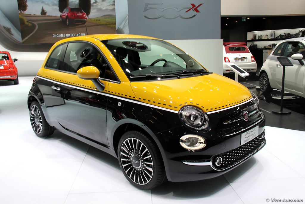 la nouvelle fiat 500 en photos au salon de francfort. Black Bedroom Furniture Sets. Home Design Ideas